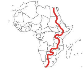 itinerary map africa